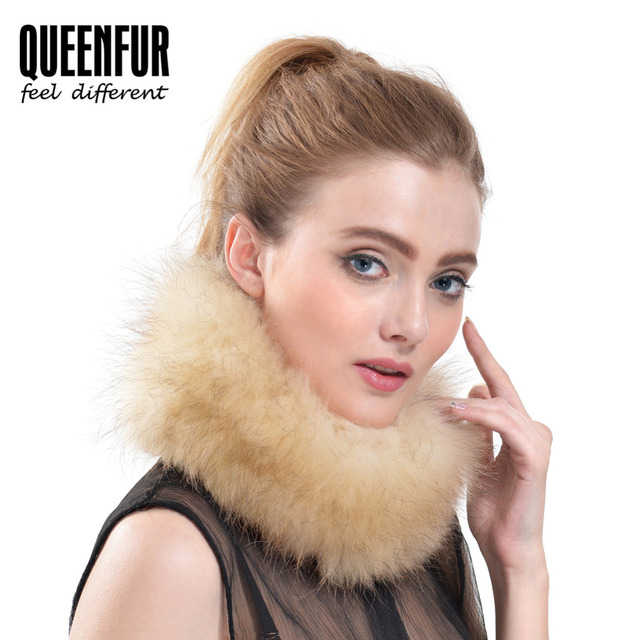 QUEENFUR 2016 Newest Fashion Ring Scarf Genuine Real Knitted Fox Fur Scarves Winter Warm Neck Super Elasticity Scarves