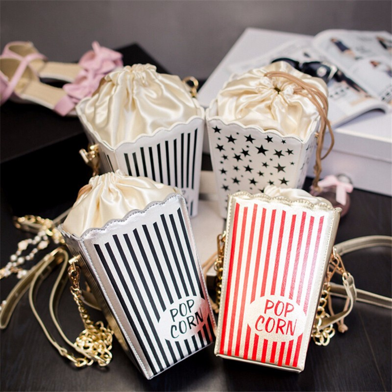 New-fashion-women-pu-leather-chain-shoulder-bag-funny-creative-popcorn-bag-small