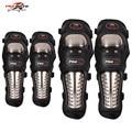 Acero inoxidable Motocicleta Motocross ATV Racing Guardias Protectores de Rodilla y Codo Almohadillas de Protección de Rodilla Equipo Protector Armadura HX-P15