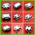 Commonest 9models Micro USB Jack 5P 5pins Mix SMD DIP V8 port charging data plug socket for phone tablet 100pcs/lot
