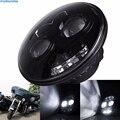 1 Unids Wateproof 7' 80 W Ronda LED Linterna de la Motocicleta 12-30 V Blanco Fresco Hi/lo Viga DRL Para Harley Davidson Motocicleta de Iluminación