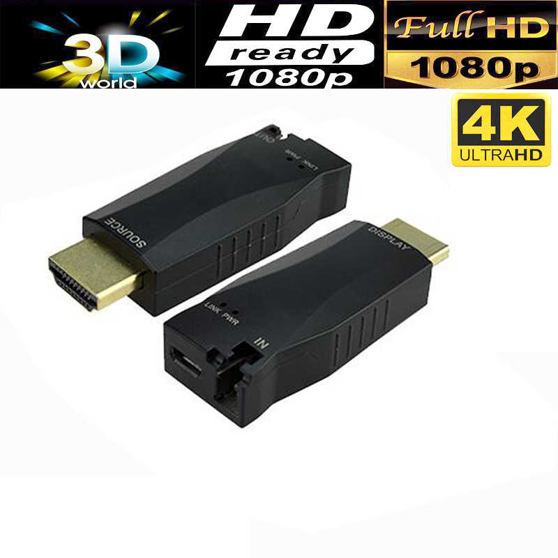 Profesional Mini 4 K HDMI serat optik multimode extender hingga 300 M melalui berkualitas/single mode serat-kabel optik