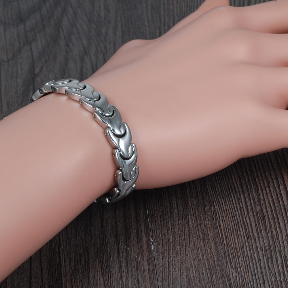 Wollet Fashion Costume Jewelry Hand Chain Health Energy Magnets infrared germanium Bracelet Bangle for Men Women