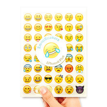 20 Sheets 960 Die Smile Face Expression Emoji Stickers for Laptop for Notebook Message Kids Vinyl Decor Classical Toys Gift 2018(China)