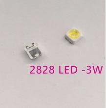 500 pcs 2828 LED Backlight TT321A 1.5 W-3 W com zener 3 V 3228 2828 branco Fresco LCD Backlight para SAM TV TV Aplicação