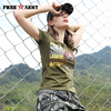 2017 Brand Summer Women S Tees Army Green Clothing Military Fashion Printed T Shirts New Short