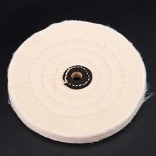 6 قماش أبيض تلميع تلميع عجلات عازلة البولندية طاحونة سادة الخشب أداة تلميع المعادن لأدوات جلخ