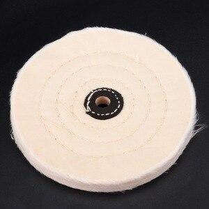 Image 1 - 6 לבן בד מרוט ליטוש גלגלים חיץ פולני כרית מטחנת עץ מתכת ליטוש כלי עבור שוחקים כלים