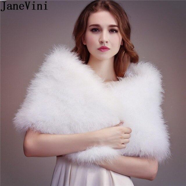JaneVini 2019 女性ボレロダチョウの羽の毛皮ラップブライダルケープ結婚式の冬パーティーショールピンクマント Etole を Fourrure