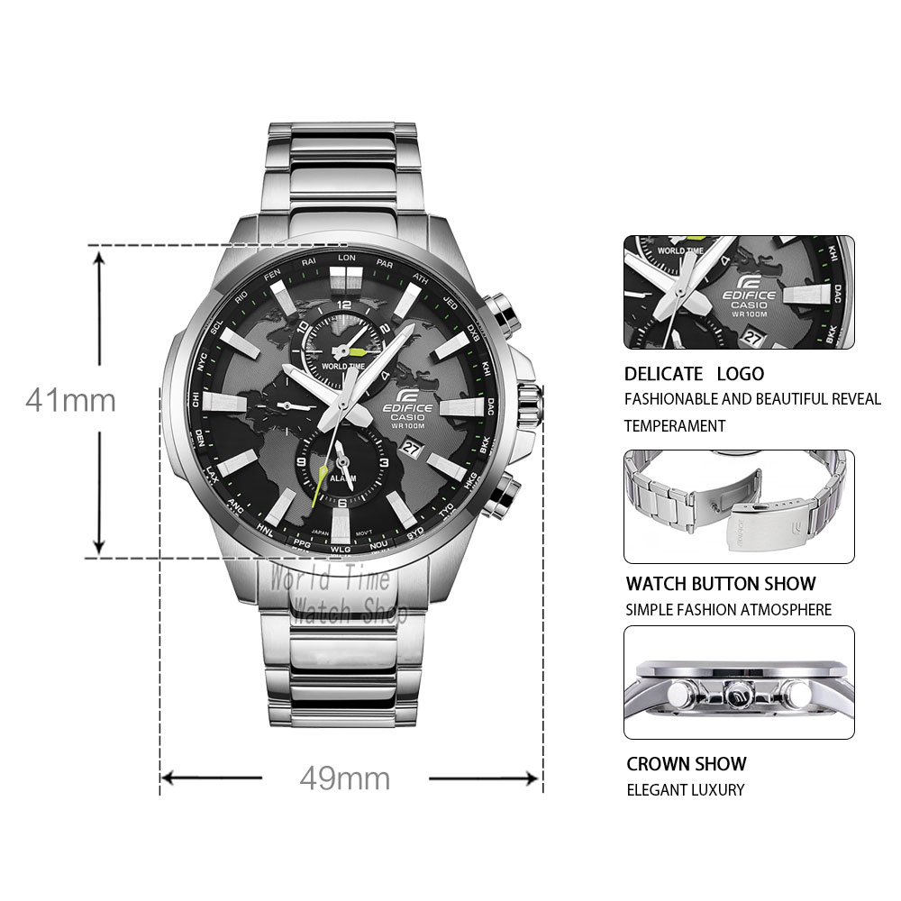 Image 2 - Casio Edifice watch men top luxury set 100Waterproof Luminous Watchs Sport men watch military quartz wrist Watch relogio reloj-in Quartz Watches from Watches