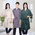 Good Quality Salon Hairdressing Customer Uniform Unisex Leisure Spa Kimono In Free Size Sauna Cloth Made With Soft Material