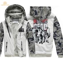 TV Show The Walking Dead Hip Hop Mens Hoodies 2019 Hot Winter Warm Fleece Plus Size Sweatshirts Men Casual Thicken Jackets