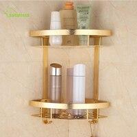 Europäischen Gold Raum Aluminium Bad Regale Pinsel Fertig Geschnitzte Coner/Kosmetikkorb/Lagerung Inhaber Bad Produkte