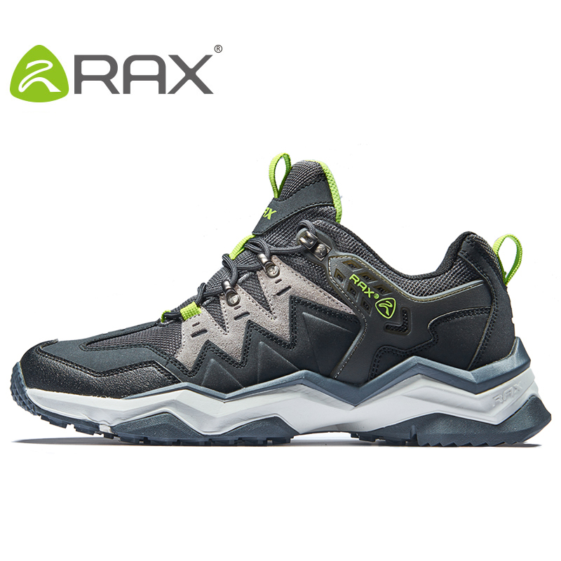 RAX Mens Waterproof Hiking Shoes Outdoor Trekking Walking Shoes Trainers Sports Sneakers Men Mountain Climbing Shoes 73-5C419 humtto new hiking shoes men outdoor mountain climbing trekking shoes fur strong grip rubber sole male sneakers plus size