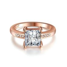 Free shipping rose gold color jewelry for women zirconia romantic engagement wedding rings bague Accessories bijoux MYR18K012