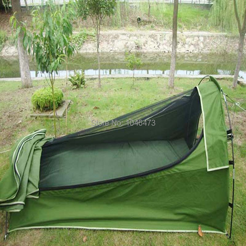 AU ZP MZ5 2 Person Double 2 Person King Size Canvas Dome Double C&ing Deluxe Swag Tent Metal Pole + Bag-in Tents from Sports u0026 Entertainment on ... & AU ZP MZ5 2 Person Double 2 Person King Size Canvas Dome Double ...