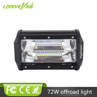 LDRIVE Tri Row LED Light Bar 5Inch LED Work Light Offroad LED Driving Light Bar Flood