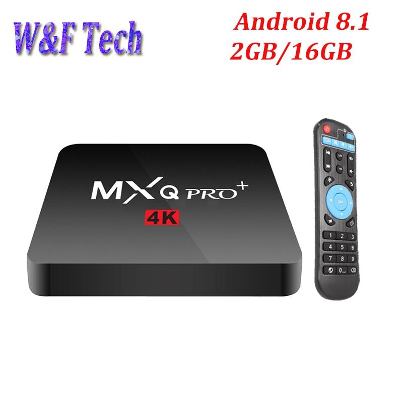 5pcs MXQ PRO Android 8.1 Smart TV BOX 2GB 16GB Opritonal 1GB 8GB Amlogic S905W Quad Core Media Player support 4K 2.4G WIFI
