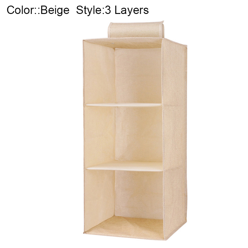 Drawer Shelves Hanging Wardrobe Organizer Storage Box Shoes Clothes For Bedroom GHS99 in Hanging Organizers from Home Garden