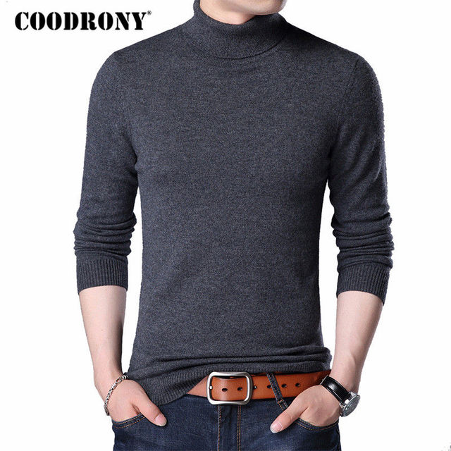 34978332dab COODRONY Merino Wool Sweater Men Casual Classic Turtleneck Pull Homme 2018  Winter Soft Warm Cashmere Men s Pullover Sweaters 310