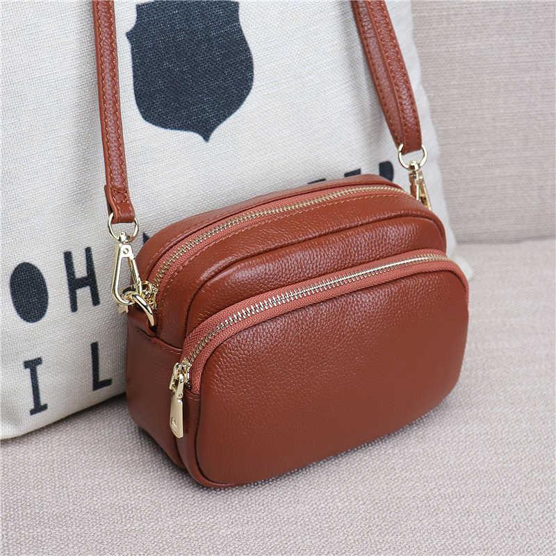 Lizilian 2018 Baru Tas Wanita Kulit Bahu Messenger Tas Versi Korea dari Mini Tas Wanita Liar Persegi Kecil Tas