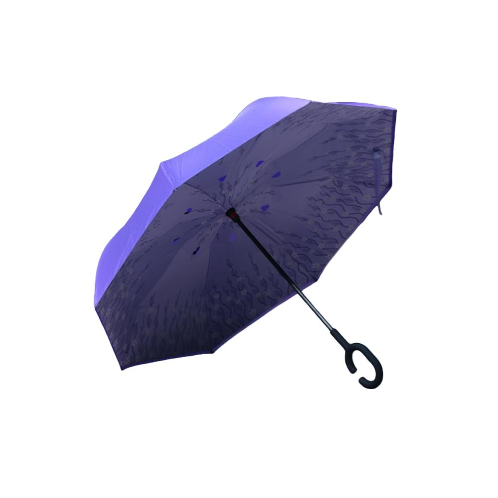 Kétrétegű összecsukható fordított esernyő, új, szélálló - Háztartási árucikkek - Fénykép 4