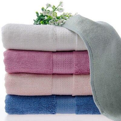 Bamboo Fiber Dobby Face Towel Toalha Serviette En Bambou Unisex Satin Antibacterial Bamboo Fiber Thick Absorbent Anti-virus76*34