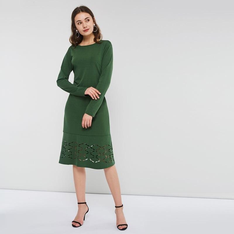 Letní zelené midi šaty bez výstřihu Elle - NejRetro.CZ 24db8ff20a
