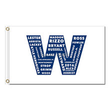 Chicago Cubs Team W Flag 3' X 5' Banner 2 Brass Metal Holes Flag Winwave 2016 World Series Chanmpions New Football