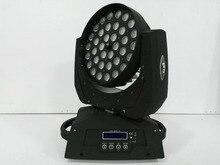 Мыть светодиодный светильник RGBWA УФ 6in1 светодиодный Увеличить головка перемещения луча свет этапа динамический круг управления DMX 36X18 Вт LED увеличить Wash свет