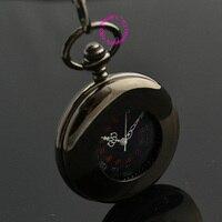 wholesale Mechanical Pocket Watch man classic vintage father Stylish black Hand Wind Roman arabic Number man gift good quality