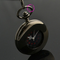 wholesale price good quality vintage father Stylish black Hand Wind Roman arabic Number man gift Mechanical Pocket Watch hour