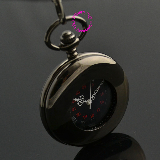 wholesale price good quality vintage father Stylish black Hand Wind Roman arabic Number man gift Mechanical Pocket Watch hour silver mechanical pocket watch man smooth case open two vintage father stylish wind roman number hour good quality short chain