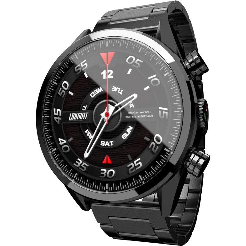 LK08 4G Smartwatch Android 7.1 GB + 32 3 MTK6739 GB 400*400 Bateria 610 mAh Tela AMOLED GPS Smartwatch relógio Passometer Inteligente Dos Homens