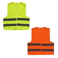 Высокая видимость безопасности отражательная защитная одежда предупреждающий жилет полоса мотоциклетная куртка на молнии строительство дорожного движения