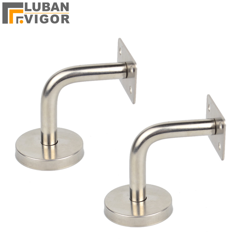 Flat Fixed pallet,Solid Stainless steel handrail Bracket/Stent/support,60x60mm,wall support,Flat handrail,Stairs accessories power support flat bumper pjk 40aj