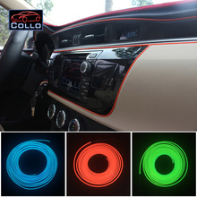 Car-Styling 9 Meter EL Wire For Audi A1 S1 A2  / The Car Interior Romantic Atmosphere Lamp / LED Car Decoration Cold Light Line