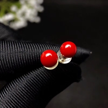 beautiful  red coral  earrings for women with 18k gold