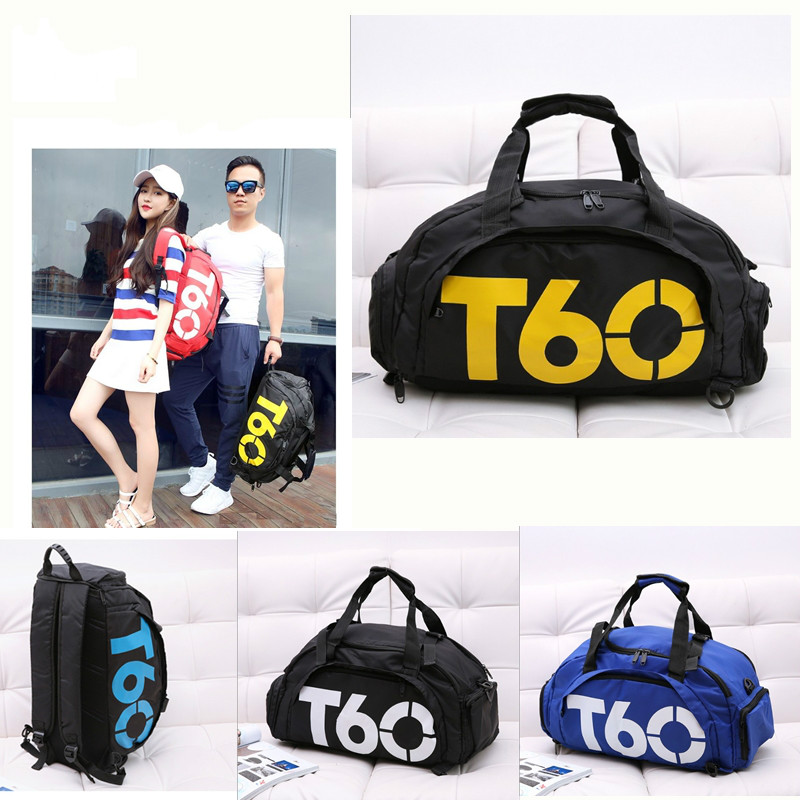 2018 New 1pc Men Women Outdoor Sport Waterproof Gym Bag Handbag backpack Fitness Separate Space For Shoes Q