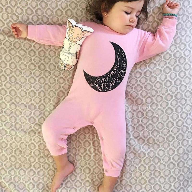 Pink Baby Romper overalls long Sleeve Cotton Baby boy girl Romper Roupas de bebe Infantil Jumpsuit Baby Clothes R2-16H 2017 baby knitted rompers girls jumpsuit roupas de bebe wool baby romper overalls infant toddler clothes girl clothing 12m 5y