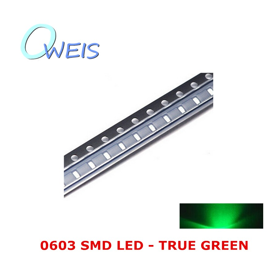 200PCS 0603 super bright GREEN SMD LED 1608 true pure green indicator sign light emitting diode light beads lamp FREE SHIPPING