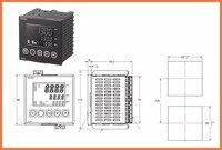 E5an haa2hbm 500 AC100 240 высоком Функция 1/4DIN отказаться от, инструмент частей, термостат