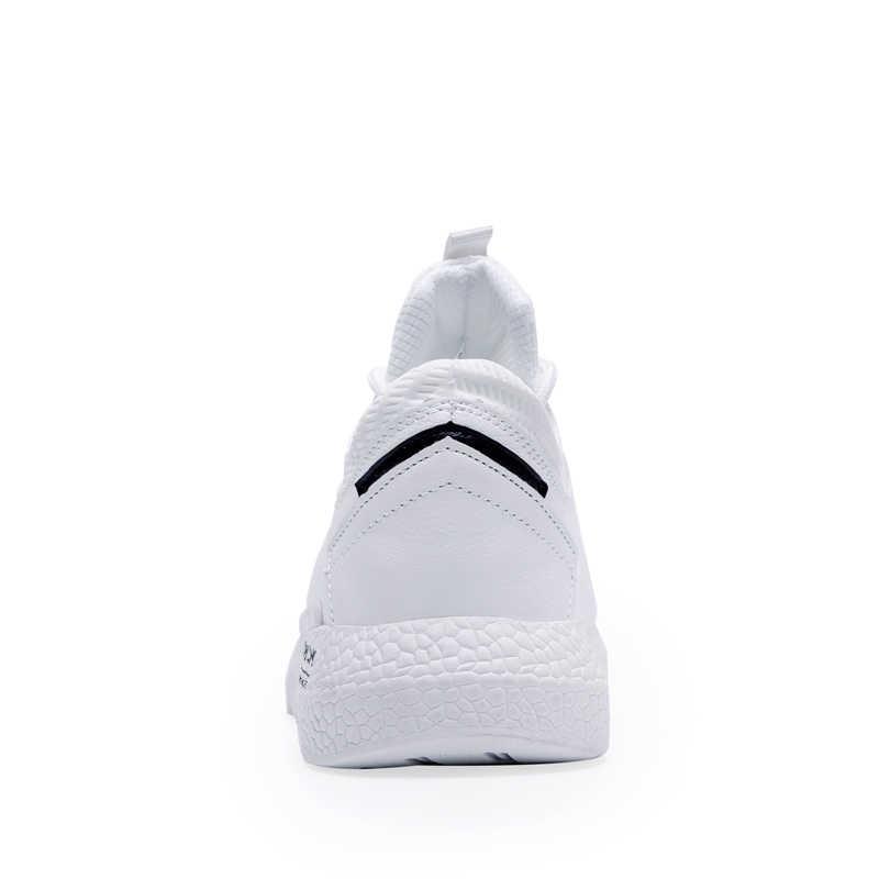 NOVO 2019 Primavera Outono Sapatos de Plataforma homem homens Coreano Moda Respirável Sapato Casual Suede Leather Lace Up Borracha Outono Ao Ar Livre