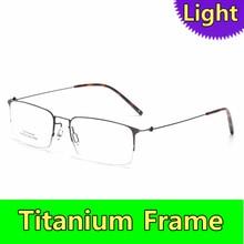 Homens de titânio puro óculos prescrição óptica quadro negócio coreano  estilo leve óculos oculos grau 956349cf37