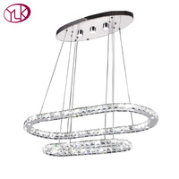 Youlaike Modern LED Chandelier Lighting For Dining Room Oval Circles Crystal Light Fixture Luxury Home Decoration