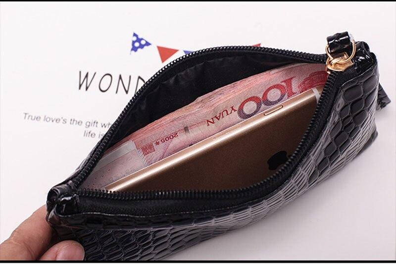 New Mini Day Clutches Women's Bag Korean Version Crocodile Pattern Clutch Bag Ladies Mobile Phone Bags Wallet PU Leather Handbag (11)