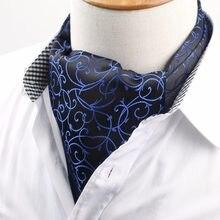 33723e03641d Men's Vintage Necktie Cravat Ascot Scrunch Self British Polka Flower  Gentleman Polyester Silk Neck Tie Luxury