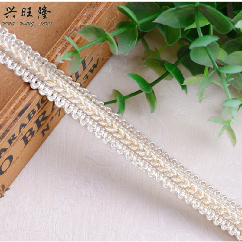 Arts,crafts & Sewing Xwl 15m/lot 1.3cm Wide Small Curtain Lace Trims Sofa Lamp Clothing Curtain Accessories Lace Ribbon Belt Diy Sewing Trim Decor
