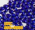 Ss6, Ss10, Ss16, Ss20, Ss30 Cobalt alta qualidade DMC ferro em vidro pedrinhas / Hot fix cristal pedrinhas