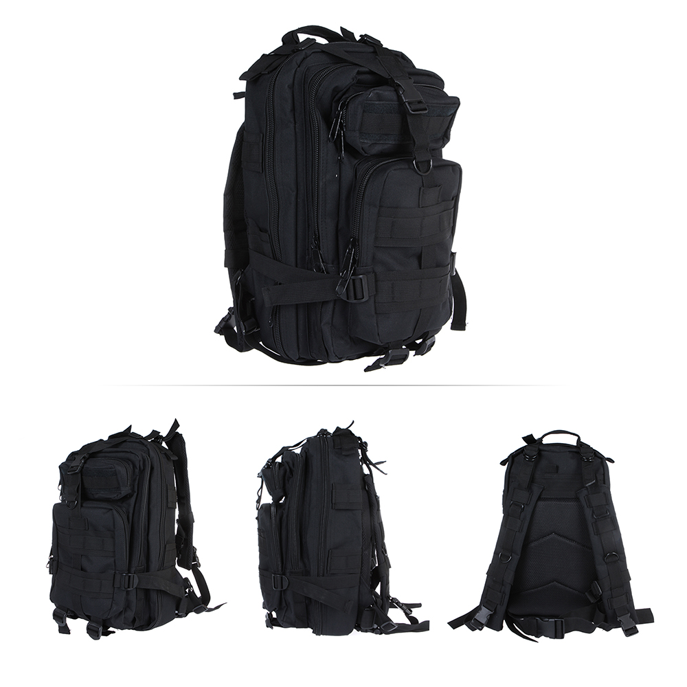 Outdoor Sport Military Tactical Backpack Molle Rucksacks Camping Hiking Trekking Bag Black Gym Bag 600D Nylon